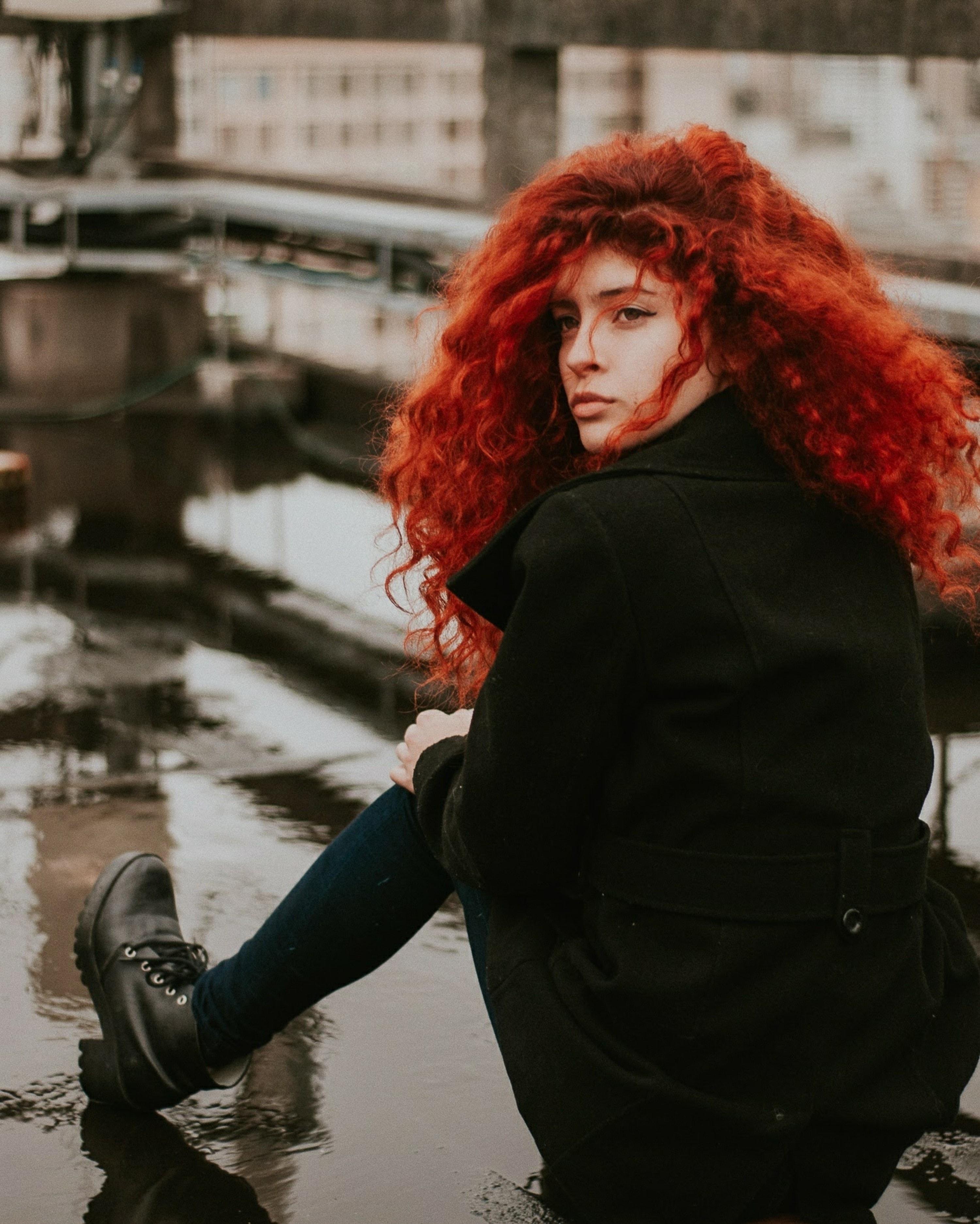 Cheveux roux flamboyants